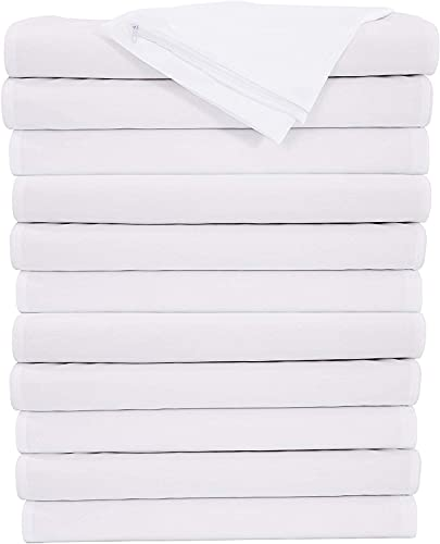 Niagara Sleep Solution 12 Pack Pillow Protectors Cases Covers Zippered King 20x36 Set Dozen White Soft Brushed Microfiber Physical Threapy Clinics Hotels (12 Pack King)