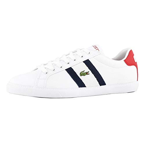 Lacoste Men's Grad Vulc 120 2 Fashion Sneaker Wht/NVY 10.5 Medium US