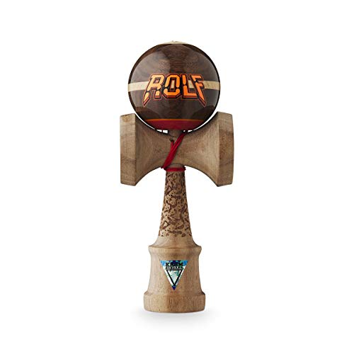 Original KROM Pro Kendama aus Holz für Anfänger und Fortgeschrittene - Geschicklichkeitsspiel für draußen und drinnen - Holzspielzeug mit Schnur und Ball - Kendama Skilltoy Kugelfangspiel