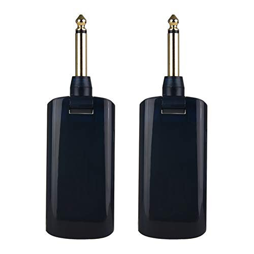 WskLinft AU688-U Electric Guitar Wireless System, Rechargeable Guitar Transmitter Receiver, Support Multi-Channel, Suitable for A Variety of Electronic Musical Instruments Black