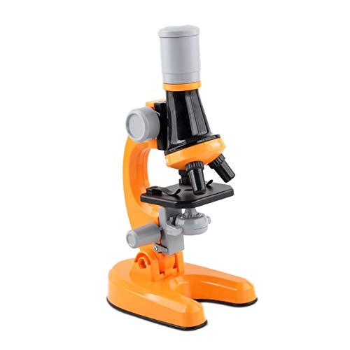 Microscopio para Niños, Ampliación 100x-400x-1200x con Kits De Ciencia El Microscopio para Principiantes Incluye Controles Deslizantes para Estudiantes De 5 Años En Adelante