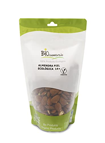 BIOCOMERCIO | Almendra ecológica entera | Almendras naturales con piel | 500 gramos | Almendras enteras | Frutos secos | Producto ecológico y orgánico | BIO