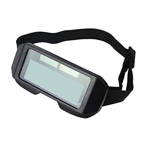 perfk Gafas para Soldar con Oscurecimiento Automático Gafas de Seguridad con Pantalla Ancha Gafas Antideslumbrante Antideslumbrante Protección UV