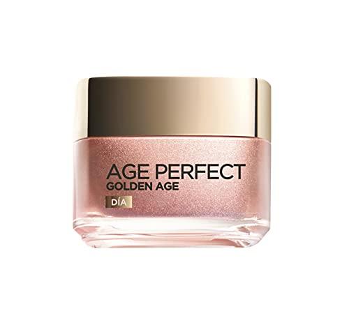 L Oréal Paris Crema de Día Fortificante de Rosas Age Perfect Golden Age, Antiflacidez y Luminosidad, Para Pieles Maduras y Apagadas, Reaviva el tono rosado, 50 ml