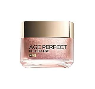 L'Oréal Paris Crema de Día Fortificante de Rosas Age Perfect Golden Age, Antiflacidez y Luminosidad, Para Pieles Maduras y Apagadas, Reaviva el tono rosado, 50 ml