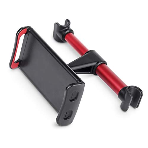 ZSHXX Telescópico Coche Trasero Almohada teléfono Tableta Soporte Soporte Soporte Trasero Soporte de Montaje para la Tableta del teléfono 4-11 Pulgada (Color : Red Buckle)