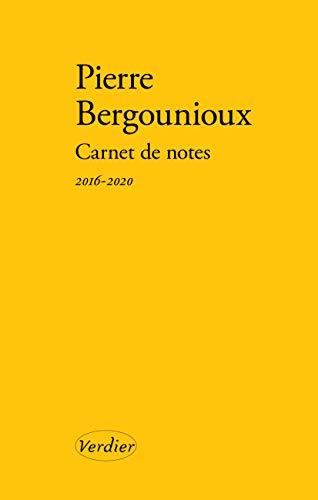 Carnet de notes 2016-2020 (LITTERATURE FRANCAISE)