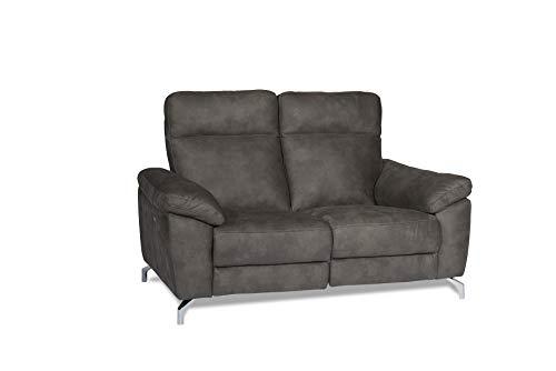 Ibbe Design - Sofá Relax de 2 plazas, Tejido marrón, eléctrico, Ajustable,...