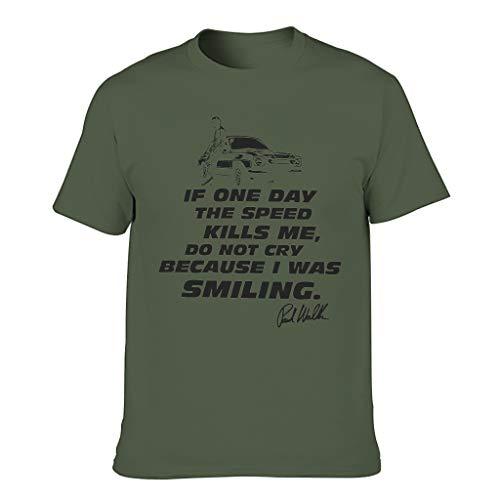 Relaxident Camiseta de algodón para hombre, diseño de la velocidad de matar a mí Cool Individuality Ultra suave