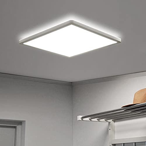 VECINO Led Deckenleuchte Flach, Deckenlampe Panel Quadratisch 18W 4000K IP44, 2.5cm Ultra Dünn, für Badezimmer/Flur/Keller