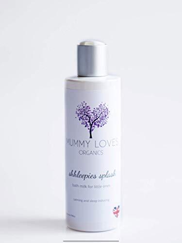 Mummy Loves Organics Shhleepies Splash Bain apaisant pour bébé au moment du coucher Gel douche biologique adapté aux tout-petits et bébés