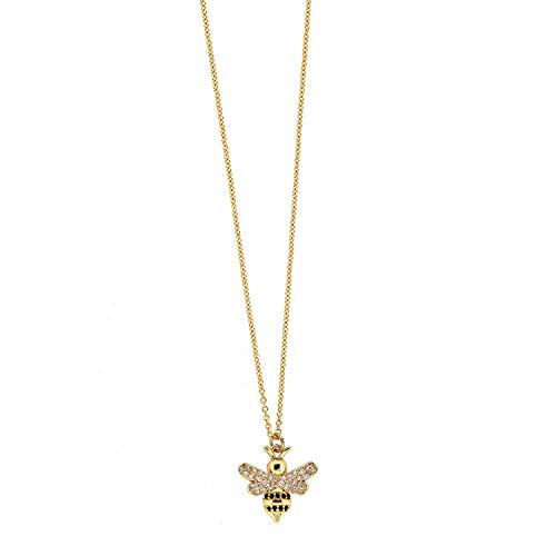 Sweet Deluxe Kette Small Bee, Gold I Elegante Halskette für Damen, Frauen & Mädchen I Halsband Modeschmuck I Designer Necklace
