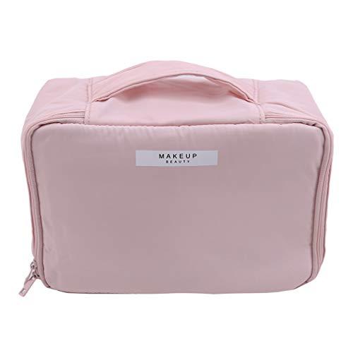 Sevenfly Minimaliste Femme Grande Capacité Sac Cosmétique Trousse De Toilette Sac De Voyage Valises Portable Maquillage Sac De Lavage Sac, Pink Queen