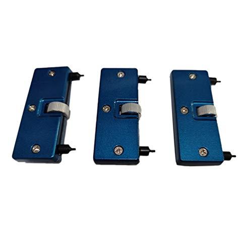XIAOFANG 3pcs Watch Ajustable Volver Caja Abre Arriba Cerca de Removedor Reparación Relojero Holder Herramienta Azul