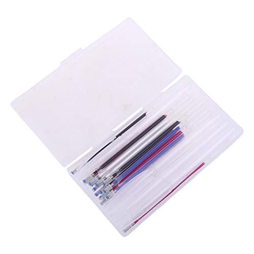 YO-HAPPY Recambio de bolígrafo, 4pcs Carcasa de bolígrafo borrable con Calor con 40pcs Recambios de desaparición automática Pluma mágica
