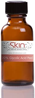 Skin Obsession 20% Glycolic Peel for Lines, Acne, Sun Damage & Rosacea Mild Home Chemical peel