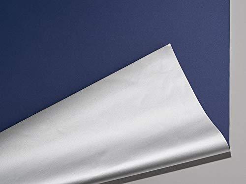 Meradiso Thermo Sonnenschutz Rollos Jalousien ca. 95 x 120 Sicht und Sonnenschutz für den Wohn und Schlafbereich cm (Blau)