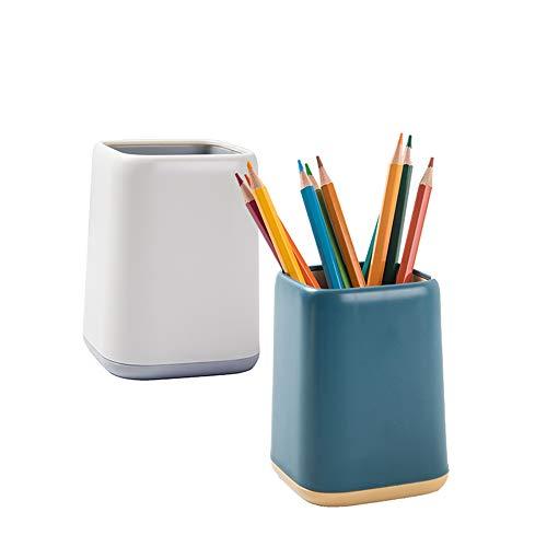 2Pack Desk Pencil Cup Stand Zweifarbiger Pot Desk Pen Holder Organizer Make-up Pinselhalte