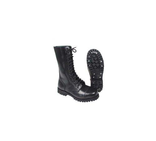 14-Loch Springerstiefel Ranger Stiefel schwarz mit Stahlkappe 46