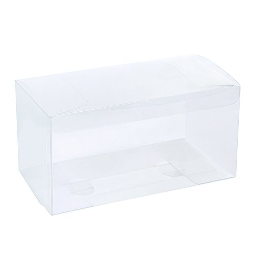 """LaRibbons 20Pcs PET Clear Box, Transparent Boxes, Candy Box, Clear Gift Boxes for Wedding, Party and Baby Shower Favors, 9"""" L x 4.5"""" W x 4.5"""" H"""
