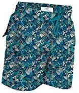 Le Club Original Boy's Swim Trunk Tesoro Blue-Greens