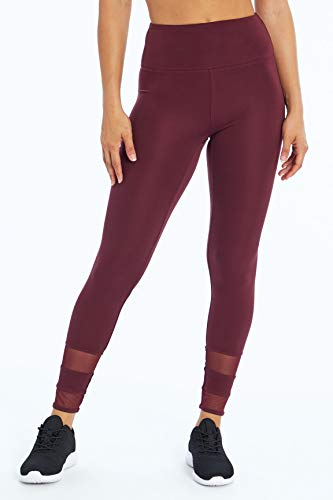 Bally Total Fitness Damen Demi High Rise Performance Leggings, Feige, X-Large