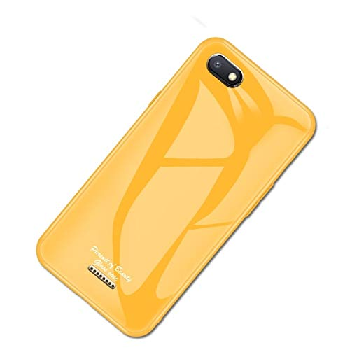 Price comparison product image YANTAIANJANE Mobile Protective Cases for Xiaomi Redmi 6A Macaron Glass + TPU Case(Red) (Color : Yellow)