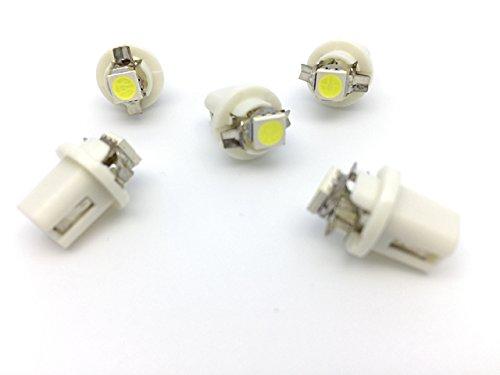 Unipower TMT Leds(TM) Bombilla LED B8.5D 1 LED SMD 5050 Blanco Salpicadero (Paquete de 5)