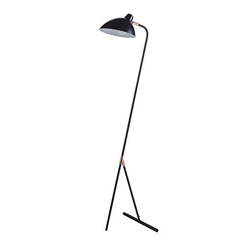 Lampadaire Delicata Lampe De Sol Sur Pied Noir Dorée VN-L00042-EU