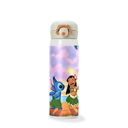 Vacuum Insulated Water Bottle Stainless Steel Vacuum Insulated Mug Thermos Coffee Travel Mug BPA-Free Thermos Flask, Keeps Cold Lilo-and-Stitch-Disney