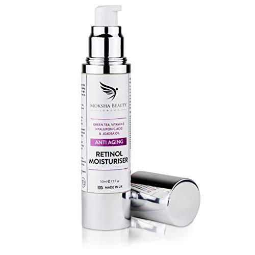 Crema Hidratante Facial Antiedad Para la Cara - 50ml [Made in U.K] Crema Antiarrugas Día y Noche Para Cualquier Tipo de Piel Cuello y Escote Crema Hidratante Antiarrugas Para Mujeres Combate la Edad