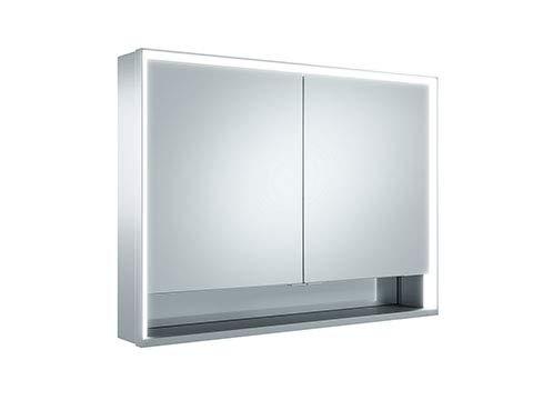 Keuco Royal Lumos spiegelkast 14304, 2 draaideuren, wandmontage, 1000mm - 14304171301