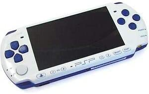 Sony PSP Slim and Lite 3000 Series Handheld Gaming Console with 2 Batteries (Renewed) (White/Blue)