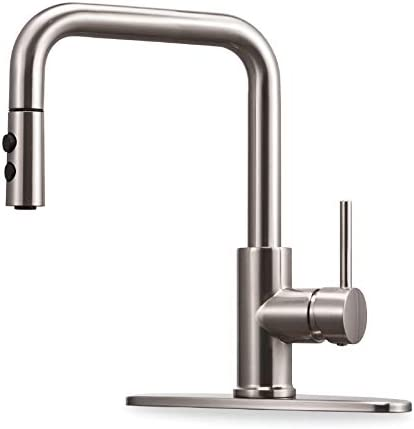 Kitchen Faucet with Pull Down Magnetic Docking Sprayer Brushed Nickel Stainless Steel Kitchen product image
