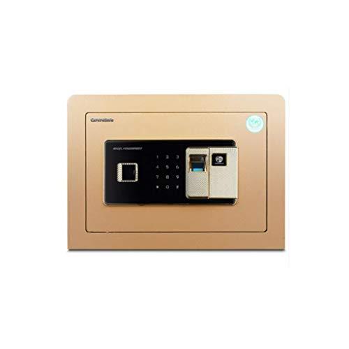 ZBM - ZBM Key veilig, met vingerafdruk wachtwoord en smart alarm kleine safe, gemaakt van micro koolstoflegering staal, geschikt voor kantoor / school thuis vuurbestendig kluis, hoogte 26,5 cm - Tyr