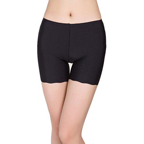 Tinksky Tinksky Frauen Boyshort Underskirt Hose Kurze Leggings Yoga Bike Shorts für Kleid (Schwarz)