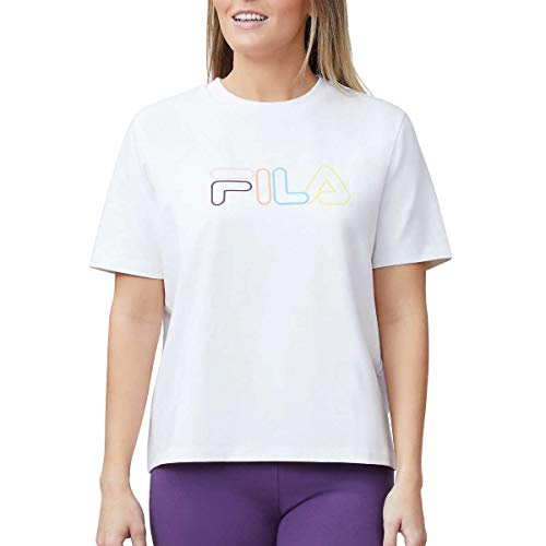 Fila Womens Short Sleeve Crew Neck Jersey Tee (White, Medium)