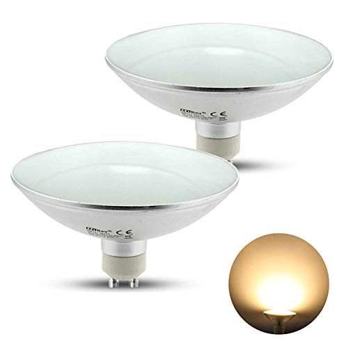 HiBay® GU10 LED AR111 Strahler Lampe 9W Spot Reflektor Leuchtmittel Ersatz für 75W Halogenlampen 800lm 120° Warmweiß AC 230V, 2 Stück