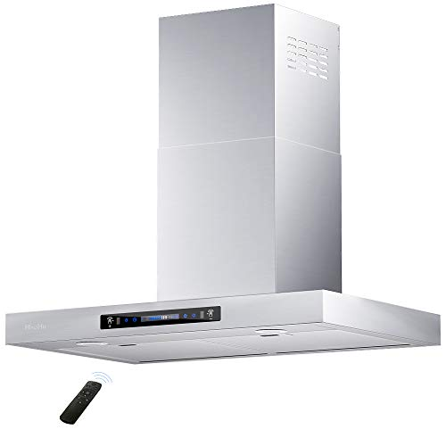 HisoHu Wall Mount Range Hood 36 Inch 780 CFM Stainless Steel Kitchen Chimney Vent 4 Speed Gesture Sensing amp Touch Control Switch Panel Exhaust Hood with Adjustable Timer and Dimmable LED lights