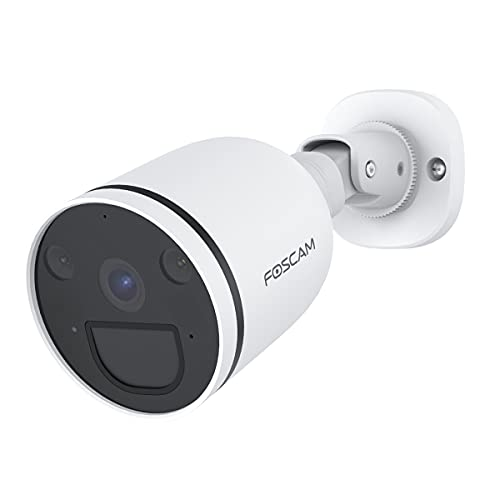 Cámara Foscam S41 reflectora, Detector PIR, iluminación LED y Sirena integrada, Seguridad, visión Nocturna, Audio bidireccional, resolución 4 MP, WiFi 2.4/5 GHz, detección Humana. (Foscam S41 Español)