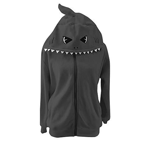 dressfan Animal Blue Shark - Erwachsener Pullover Mit Kapuze Hoodie Langarm-Rollkragenpullover-Sweatshirt mit Reißverschluss und Tasche