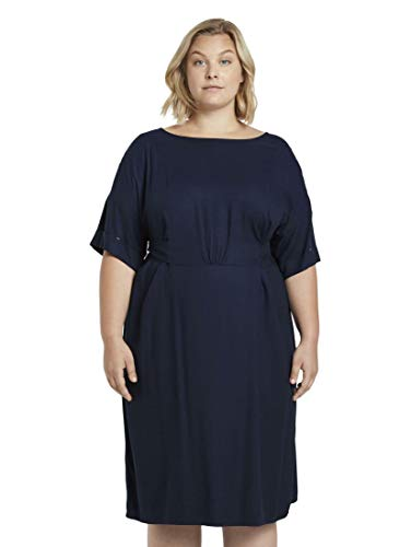 TOM TAILOR MY TRUE ME Damen Plussize Easy Kimono Kleid, 10360-Real Navy Blue, 48