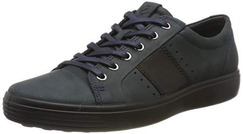 ECCO Herren Soft 7 M Sneaker, Blau (Marine/Black 50545), 42 EU