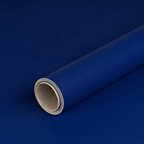 Geschenkpapier Blau und Silber, Kraftpapier, glatt, 65 g/m², Geburtstagspapier, Weihnachtspapier - 1 Rolle 0,7 x 10 m