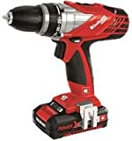 Einhell TE-CD 18-2 Li-I Kit Power X-Change 18 V Lithium Ion Cordless Impact Drill - Black/Red/Stainless Steel