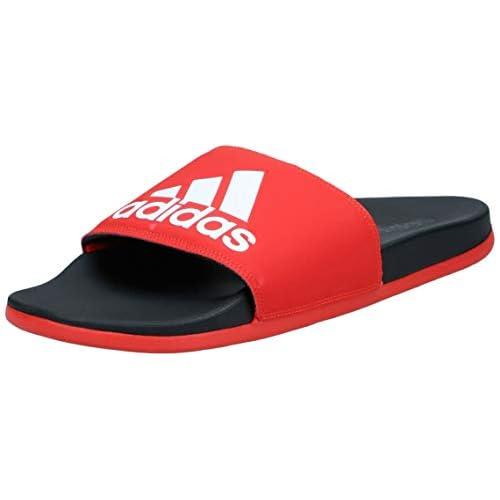 adidas Adilette Comfort, Scarpe da Spiaggia e Piscina Uomo, Rosso (Red F34722), 46 EU
