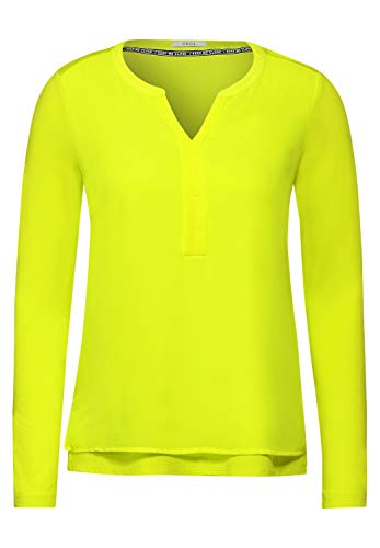Cecil Damen Bluse im Lagen-Look Nordic Yellow XS