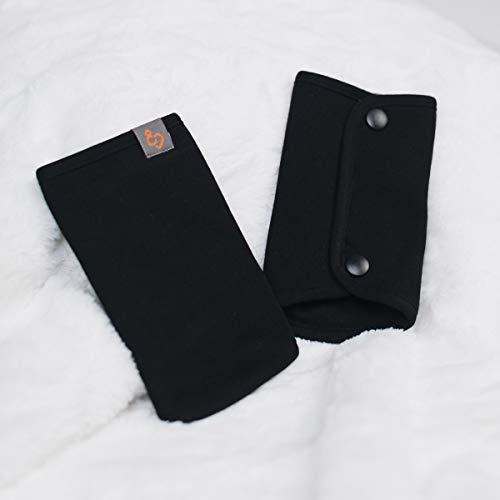 Love & Carry - Funda protectora para cinturón de asiento, para riñonera, 100% algodón natural (negro)