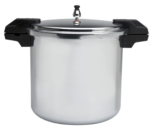 Mirro 92122A Polished Aluminum 5 / 10 / 15-PSI Pressure Cooker / Canner Cookware, 22-Quart,...