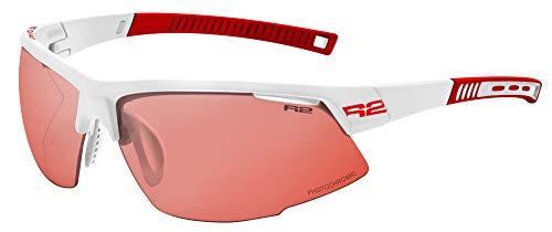 R&R Gafas de sol multideporte Racer | Gafas de sol | Gafas de correr con cristales intercambiables o fotocromáticas (blanco/rojo, fotocromáticas)